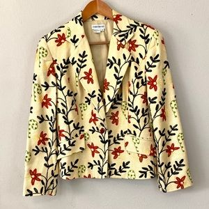 100% Silk Embroidered Jacket GORGEOUS😍😍😍